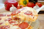 Pizza pull — Stockfoto