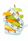 Tape measure and fruit — Stock Photo