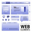 Blue Website Design Elements — Stock Vector