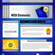 Website Design Elements — Stock Vector