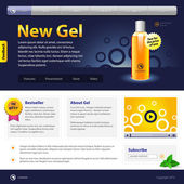 New Gel Website Design Template — Stock Vector