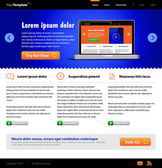 Plantilla web azul — Vector de stock