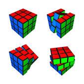 3d рубика кубов — Стоковое фото