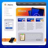 шаблон веб-дизайна — Cтоковый вектор