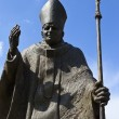 Pope John Paul II Statue in Suwalki - Poland — Stock Photo