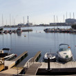 Copenhagen Marina and Harbour Panorama - Stock Photo