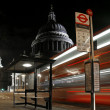 Light Trails Passing St. Paul's Cathedral in London — Stock Photo #6824876