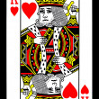 King of Hearts Playing Card — Stock Photo #6824948