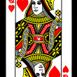 Queen of Hearts Playing Card — Stock Photo #6824955