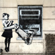 "Stock Photo: Banksy Graffiti ""Cash Machine"""
