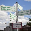 Stock Photo: Berlin Points of Interest are Signposted with the TV Tower in th