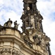 The Spire of the Catholic Court Church in Dresden - Stock Photo