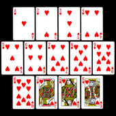 Playing Cards (Hearts) — Stock Photo