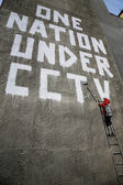 "Banksy Graffiti ""One Nation Under CCTV"" — Stock Photo"