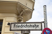 Friedrichstrasse Signpost - Berlin — Stock Photo