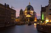 Le berliner dom et la rivière spree - berlin — Photo