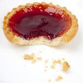 A Strawberry Jam Tart — Stock Photo