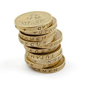 Pile of £1 Coins — Stock Photo
