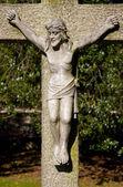 кладбище распятие — Стоковое фото