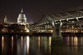 St. Paul's and the Millennium Bridge — Stock Photo
