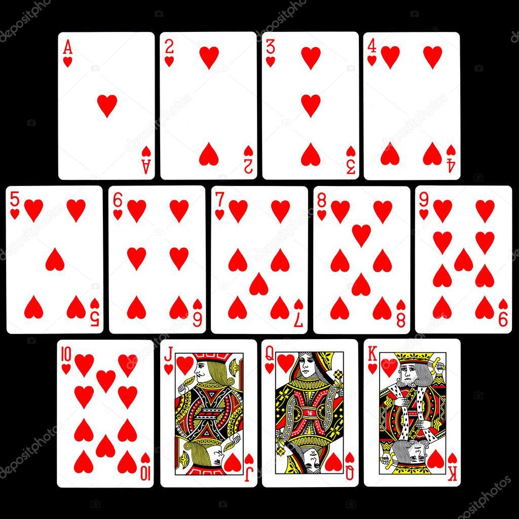 Playing Cards Hearts 13 'hearts' Playing Cards