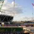 Royalty-Free Stock Photo: Olympic Stadium Construction Site Panoramic (July 2009)