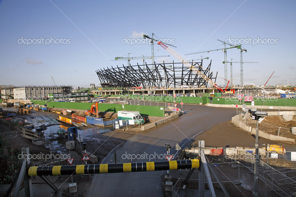 The London Olympic Stadium under construction in Stratford in 2009. — Stock Photo #6830692