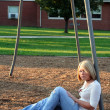 Blond On Playground 2 — Stock Photo