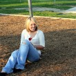 Blond On Playground 4 — Stock Photo #6844956