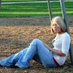 Blond On Playground 5 — Stock Photo #6845317