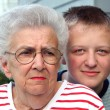 Stock Photo: Grandmother Grandson Portrait