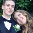 Happy Together Prom Couple — Stock Photo