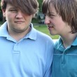 Playful Teen Brothers — Stock Photo