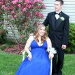 Prom Couple Informal Outdoors — Stock Photo