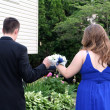 Stock Photo: Prom Couple Walking Together