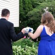 Prom Couple Walking Together — Stock Photo