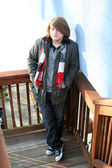 Depressed Teenage Boy — Stock Photo