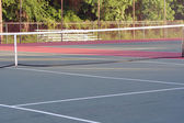 High School-Tennisplatz cross anzeigen — Stockfoto