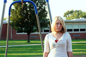 Schoolyard Blond 2 — Stock Photo
