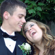 Sharing A Laugh Prom Couple — Stock Photo