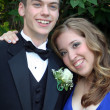 Smiling Prom Couple Portrait 2 — Stock Photo #6850626