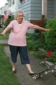 Skateboard Grandmother 2 — Stock Photo