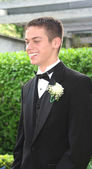 Smiling Prom Teen Boy in Profile — Stock Photo