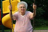 Swinging Grandmother 10 — Stock Photo