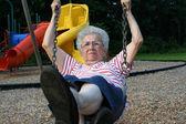 Swinging Grandmother 12 — Stock Photo