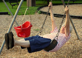 Swinging Grandmother 3 — Stock Photo