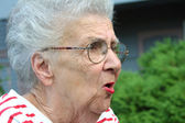 Angry Grandmother — Stock Photo