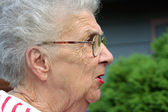Annoyed Grandmother — Stock Photo