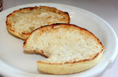 Toasted English Muffin — Stock Photo