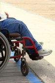 Wheelchair On Boardwalk — Stock Photo